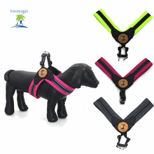 Fashion Reflective Pet Dog Collar Breathable Mesh Harness Pet Dog Training Harness Vest for Small Puppy Large Dog(China)