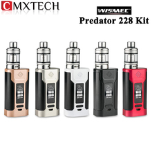 In Stock !! Wismec Predator 228 Electronic Cigarette Kit 228W Predator 228 Box Mod Vape and 4.9ml/4.6ml NS Triple Elabo Tank