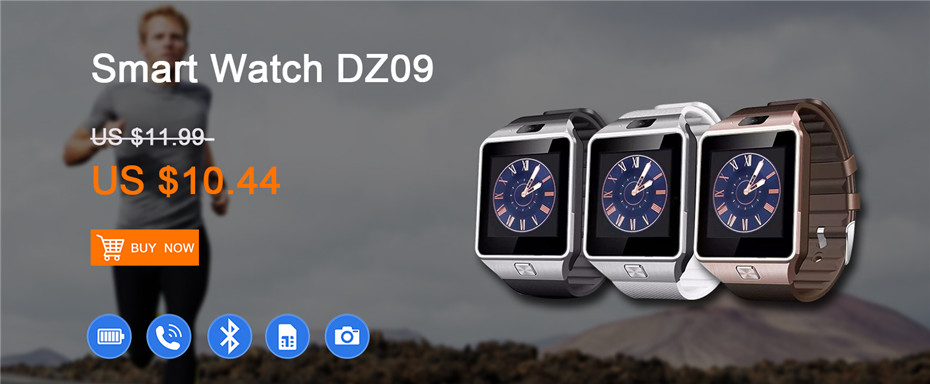 DZ09 2017 New Smart Watch dz09 With Camera Bluetooth WristWatch SIM Card