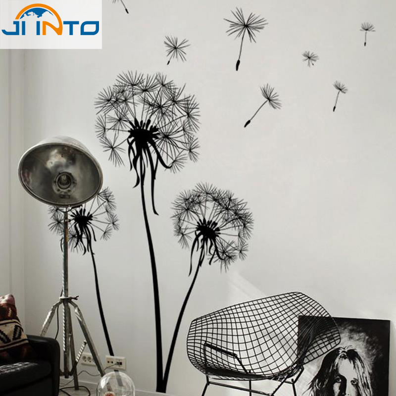 60*45cm The dandelion Wall decals decorative adesivo de parede removable Vinyl Wall Stickers(China (Mainland))