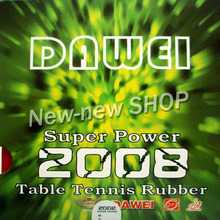 Dawei Rubber (Dawei Table Tennis) Super Power 2008 Pips-In Table Tennis Rubber with Sponge for Ping Pong Racket