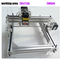 GRBL 500mW Desktop DIY kit blue purple Laser Engraving Machine Picture CNC Printer, working area 20cmx17cm