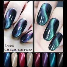 Zation Magnetic Nail Gel Lacquer Enamel Permanent Soak Off LED UV Gel Polish Manicure Cat Eye Gel Uv Kit Varnish Nail Polish(China)