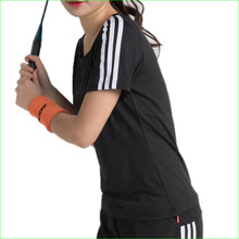 2017 New Woman Tennis Tee Shirt Polyester Badminton Sports Top for PingPong