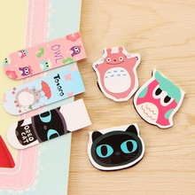 2PCS/pack/LOT   Cartoon animal series magnetic Bookmark  Totoro owl page tab for books cute gift  office school supplies