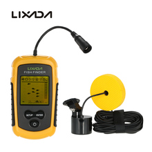 Lixada Portable Fish Finder Sonar Sounder Alarm Transducer Fishfinder 0.7-100m Fishing Sounder 7.5m Cable with English Display