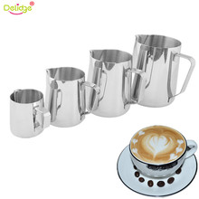 Delidge 1 pc 4 Different Sizes Coffee Latte Art pot Stainless Steel Milk Frothing Jug Latte Cappuccino Coffee Making Tools(China)