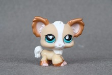 New pet Genuine Original LPS #1082 Tan & Bronze Shimmer Chihuahua Puppy Dog Blue Eye figure Toys(China)