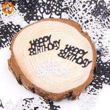 15g/Bag Black Happy Birthday Confetti Age Number Sequins Scatters Birthday Party Decor Table Birthday Party Decoration Supplies(China)