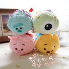 TSUM TSUM Plush Toy Candy Tsum mini Limited Set Tigger Piglet Eeyore Bee Kawaii Screen Cleaner pendant keychain for gifts(China)