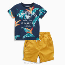 New 2017 Brand Quality 100% Cotton Baby Boys Clothing Sets Summer Children Suit Kids Short Sleeve Clothes Sets Baby Boys Outwear(China)