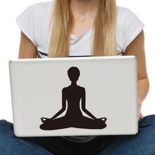 Yoga Meditate Decal Computer Sticker High Quality Small Laptop Decal Home Decoration Accessories Car Styling