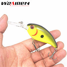 1Pcs Crankbait Fishing Wobblers 14g 10cm Hard bait Bass Spinner Fishing Lures 7 Colors Pesca fishing tackle YR-198