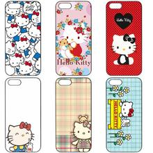 Hello Kitty Flower Style Hard Phone Cases Cover For Apple iPhone 4 4S 5 5C SE 6 6S 7 7S Plus 4.7 5.5 iPod Touch 4 5 6