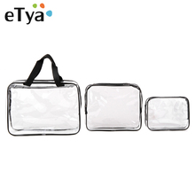 Fashion Environmental Protection PVC Transparent Cosmetic Bag Women Travel Make up Toiletry Bags Makeup Handbag Organizer Case(China)
