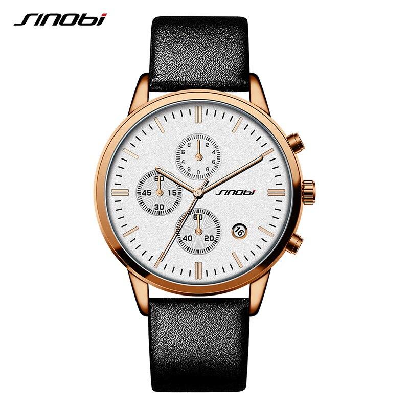 Sinobi Business Watches 2017 Men Watches Top Brand Luxury Watch Male Quartz Wristwatch Chronograph Watch Relogio Masculino <br>