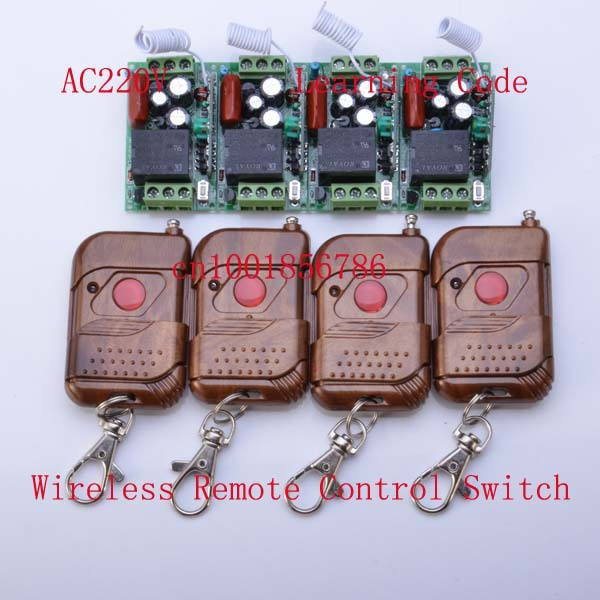315Mhz/433Mhz 220V 1CH 10A RF Wireless Remote Control Power Switch System M4/T4 output state is adjusted Learning Code<br><br>Aliexpress