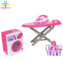 Children Simulation Washing Machine Ironing Board and Mini Iron Learning Educational Toys(China)