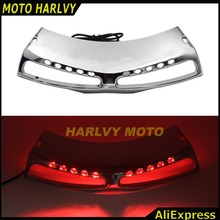 Chrome Motorcycle Front Fairing Headlight Lower Grill case for Honda Goldwing 1800 GL1800 2001-2011