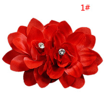 New Design Hair Pins Hair Clip With Fabric Flower Decoration Beautiful Bridal Hair Accessories Hair Jewelry COCOTINA D02571