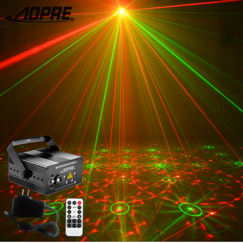 AOPRE Mini Laser Projector Light Stage Lighting Effect DJ Party Home Wedding Disco Club Decoration Lamp Adjustment MG96RGRG(China)