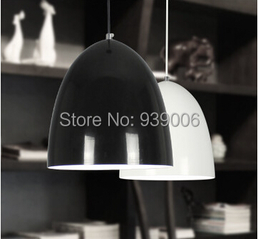 24 cm single head small droplight study bedroom lamps and lanterns of restaurant bar black and white <br><br>Aliexpress