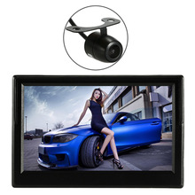 Car Wireless Rear View Monitor 5 Inch TFT LCD Display with Suction Stand Reverse Back Up System Mini Rearview Camera(China)