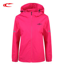 SAIQI 2017 Softshell Jacket Women Waterproof Rain Coat Outdoor Hiking Clothing Female Windproof Soft Shell Hooded Jackets 1017(China)