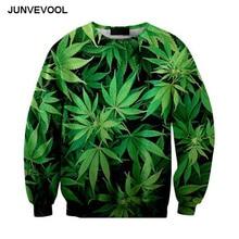 Casual Pullover Hoodies Mens 3d Green Weed leaves Pullover Hoodie Hip Hop Sweatshirt Men Harajuku Clothing 6XL Funny