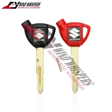2XPCS Free shipping Motorcycle Uncut Blade Blank Key For Suzuki AN250 AN400 AN650 Burgman Magnetic Black+Red