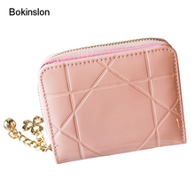 Bokinslon Coin Purse For Woman PU Leather Fashion Women Wallet Practical Small Fresh Female Cute Wallets(China)