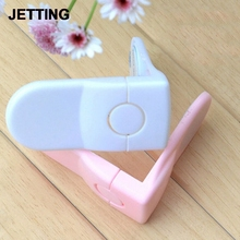 1 Pc Cabinet Drawer Cupboard Refrigerator Toilet Door Closet Locks Plastic Lock Baby LockCare Child Safety(China)