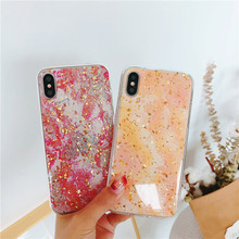 Buy Coque Funda Gold Foil Phone Case iPhone X 8 7 6 6S Plus Case Transparent Luxury Bling Silicone TPU Marble Cover 7Plus 6Plus for $1.49 in AliExpress store