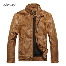 Men Autumn Winter Leather Jacket Motorcycle Leather Jackets Male Business casual Coats Brand New clothing veste en cuir,YA349(China)