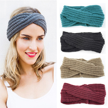 Knitted Twist HeadBand Female Earmuffs Ear Warmers Scrunchy Twist Hair Clip Turban Headband Bandana Head Bandage Hair Accessorie(China)