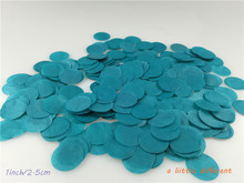 2.5cm 1inch 1kg/bag Teal Balloon Filling Tissue Paper Confetti Dots For Wedding Baby Shower Birthday Party Table Decoration