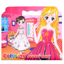 Creative New Xiao Princess Coloring Sticker Book For Children Adult Relieve Stress Kill Time Graffiti Painting Drawing Art