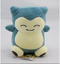 "2017 1pcs 6""15cm Plush Toy Snorlax Plush Anime New Rare Soft Stuffed Animal Doll For Kid Gif KaBiShou"