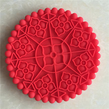 XIBAO Single hole big Silicone Cake Pan die DIY Kitchen Baking tools traditional moon cake mold colour random