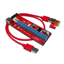 60cm PCI-E PCI E Express 1X to 16X Riser Card+USB 3.0 Extender Cable with SATA Power Supply for Bitcoin Litecoin Miner(China)