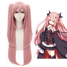 Cosplay Wig Seraph of the End Krul Tepes Pink Hair With Chip Ponytail