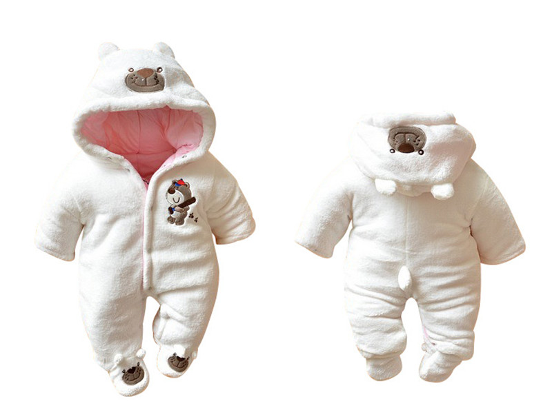 New Arrival !Autumn and Winter Baby Boy&Girl Clothes Newborn Cartoon Animal Outwear Clothing Baby Warm Jumpsuit Free Drop Ship15