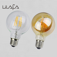2W 4W 6W 8W LED Lamp G80 Amber Clear Dimmer bulb E27 110V 220V Vintage Edison Filament Light Bulbs For Home Decor