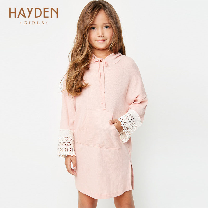 teenage girls dresses Hooded lace 9 10 12 years princess costumes autumn girl clothes for girls 13 years teens fashion clothing<br>