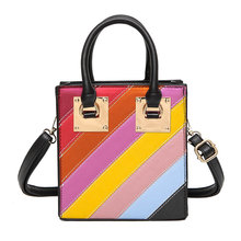 Famous France Brand Women Small Tote Handbags Crossbody Bag Luxury SH Multi Color Striped Designer Women Shoulder Bag Sac A Main