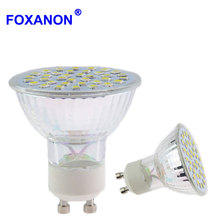 4W 6W 8W GU10 220V LED Spotlight Bulb 2835 5730 SMD 54LEDs 72 LEDs Bulbs Lamp Light Glass Body For Indoor Led lamps lighting