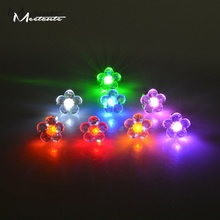 Meetcute Led Light Up Stud Earring Glow In The Dark Flower Rhinestone Earrings Fow Woman Dance Party Jewelry Accessory(China)