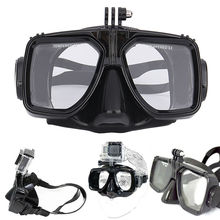 Diving Equipment Camera Mount Silicone Diving Mask Scuba Swimming For GoPro Hero 2 3 3+ 4 for Sports Camera(China)