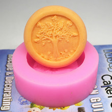 C448 soap mold/handmade soap mold/silicone mold/soap die/silica gel soap die rich tree(China)