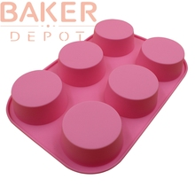 round silicone bakeware cake molds 6 holes Muffin cupcake molds handmade soap molds SSCM-001-14